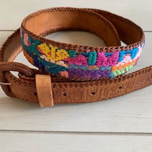 Accessories - Handmade leather and embroidered belt